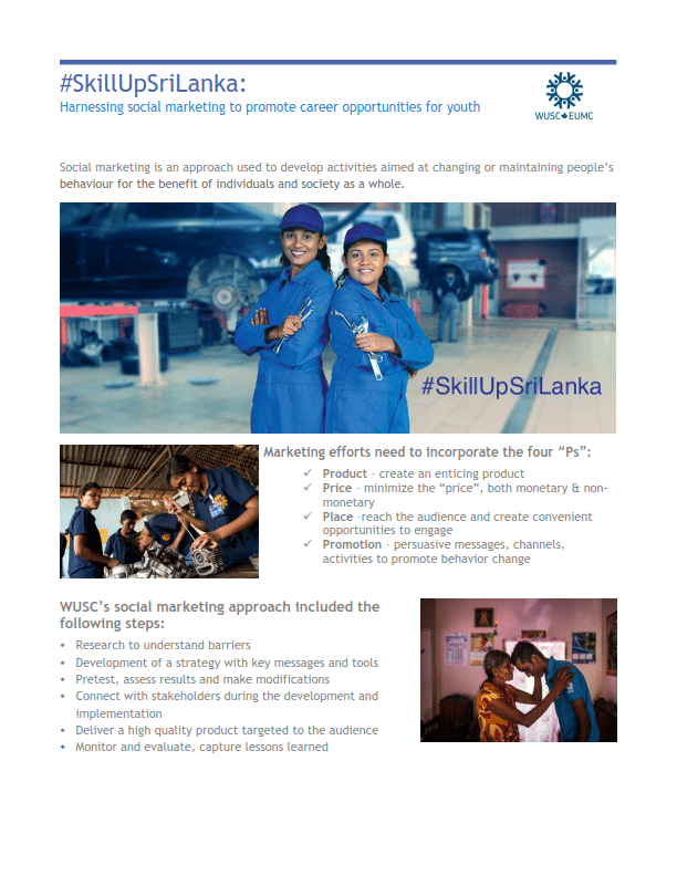 #SkillUp Sri Lanka Poster - Harnessing social marketing to promote career opportunities for youth